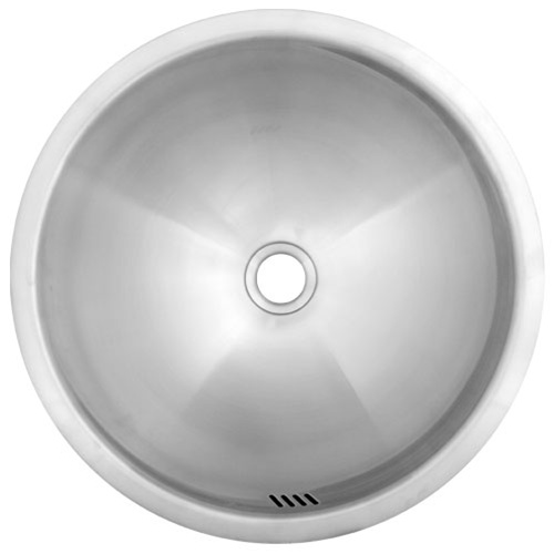 Ticor S710 Undermount Stainless Steel Round Bathroom Sink  View detailed images  8. Ticor S710 Undermount Stainless Steel Round Bathroom Sink