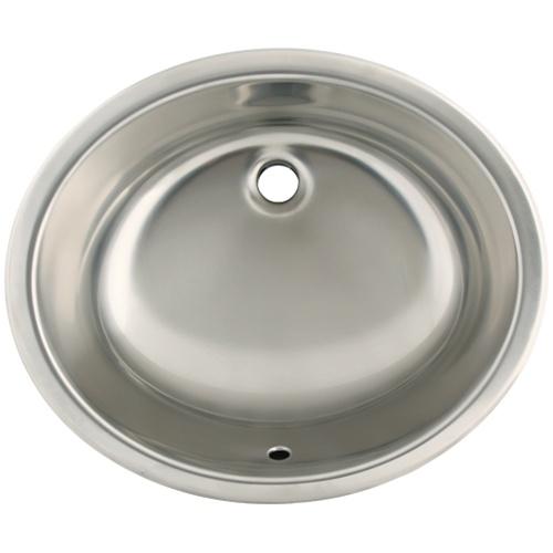 Overmount Stainless Steel Sink : Ticor S720 Undermount/Overmount Stainless Steel Oval Bathroom Sink