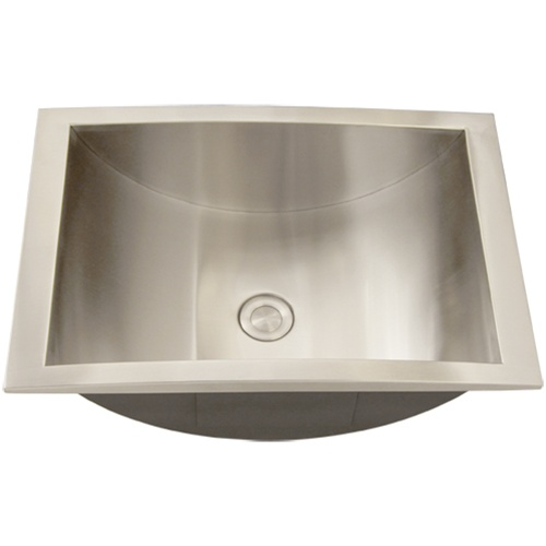 Http Www Stainlesssteelsinks Org Ticor S740 Overmount Stainless Steel Bathroom Sink Html