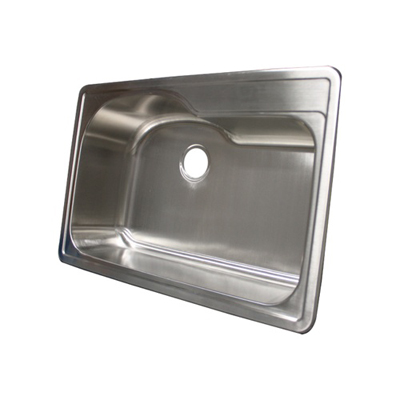 Overmount Stainless Steel Sink : ... Sink With Free Deluxe Strainer Stainless Sinks Stainless Steel