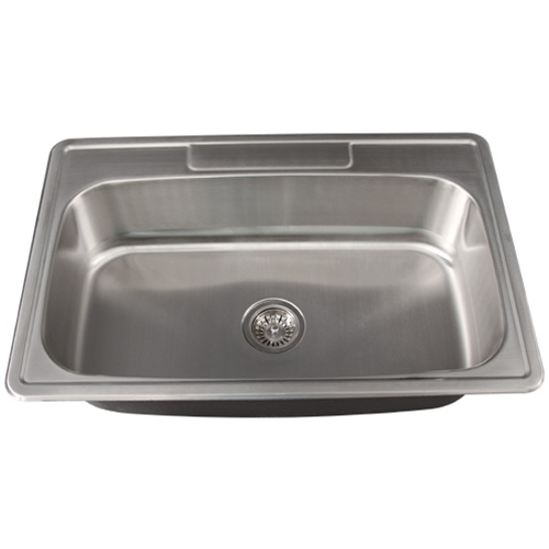 Overmount Stainless Steel Sink : Ticor S994 Overmount Stainless Steel Single Bowl Kitchen Sink