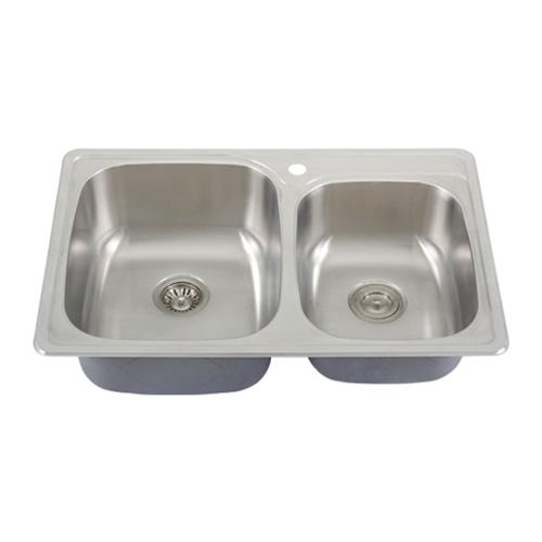 Ticor S995 Overmount 18 Gauge Stainless Steel Kitchen Sink