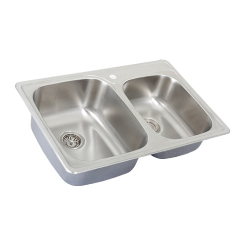 Overmount Stainless Steel Sink : Ticor S995 Overmount 18-Gauge Stainless Steel Kitchen Sink