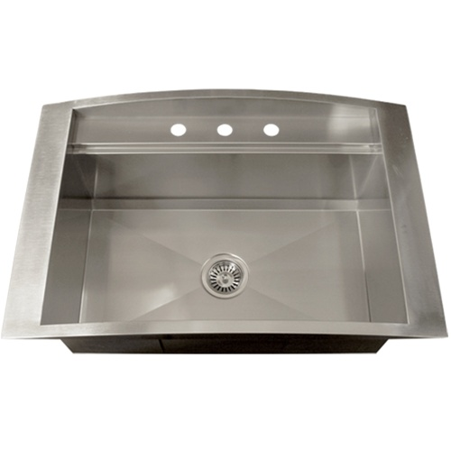 Ticor TR2000 Overmount 16-Gauge Stainless Steel Square Kitchen Sink ...