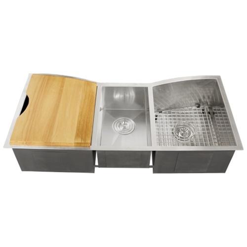 ... TR2240 Undermount 16-Gauge Stainless Steel Kitchen Sink + Accessories