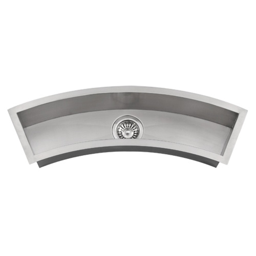 Undermount Trough Sink : Ticor Undermount Curved Trough Stainless Steel Kitchen Prep Sink ...