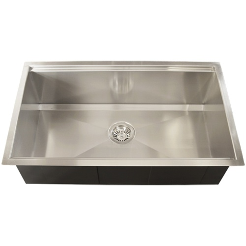 undermount 16 gauge stainless steel square kitchen sink accessories