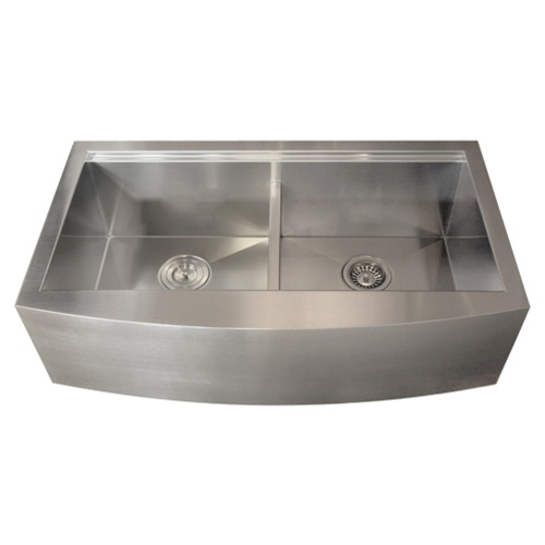 Apron Stainless Steel Sink : Ticor TR9030 16-Gauge Stainless Steel Apron Kitchen Sink + Accessories