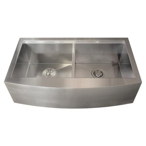 Metal Apron Sink : Ticor TR9030 16-Gauge Stainless Steel Apron Kitchen Sink + Accessories