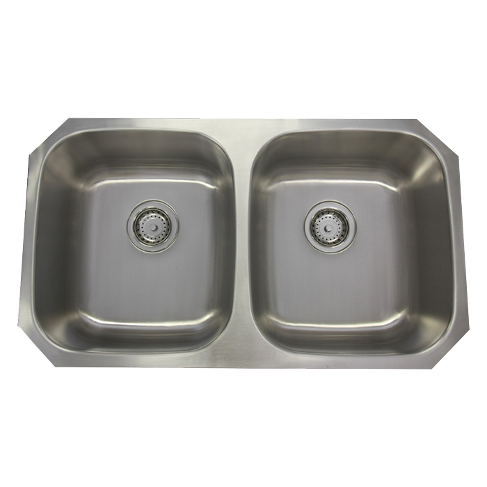 Double Sink Stainless Steel : 32