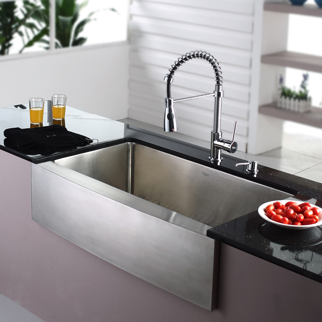 Farmhouse Stainless Steel Kitchen Sink : Kitchen Sinks