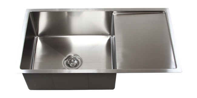Stainless Steel Undermount Kitchen Sink W/ Drain Board TZ3619CFS