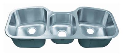C-Tech-I Linea Imperiale Potenza LI-200-T Triple Bowl Stainless Steel Sink