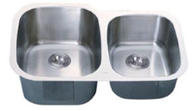 C-Tech-I Linea Imperiale Garda LI-300-S Double Bowl Stainless Steel Sink