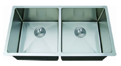 C-Tech-I Linea Amano Varsi LI-2000-R Double Bowl Stainless Steel Sink
