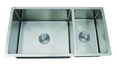 C-Tech-I Linea Amano Molino LI-2100-R Double Bowl Stainless Steel Sink