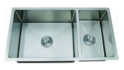 C-Tech-I Linea Amano Molino LI-2100-R Double Bowl Stainless Steel Sink