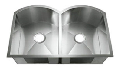 C-Tech-I Linea Amano Plati LI-2200-S Double Bowl Stainless Steel Sink
