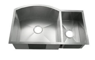 C-Tech-I Linea Amano Tesero LI-2200-B Double Bowl Stainless Steel Sink
