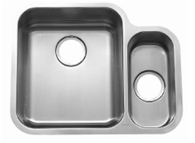 C-Tech-I Linea Beoni Vitoria LI-UK-S500 Double Bowl Stainless Steel Sink