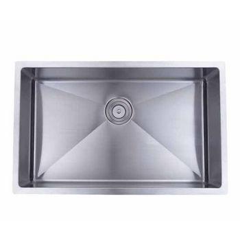 Wells Sinkware Commercial Grade 16 Gauge Handcrafted Single Bowl Undermount Stainless Steel Kitchen Sink CSU3220-10