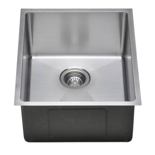Wells Sinkware Commercial Grade 16 Gauge Handcrafted Single Bowl Undermount Stainless Steel Kitchen Sink Package CSU1720-9