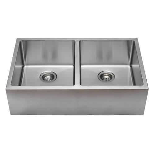 Wells Sinkware Commercial Grade 16 Gauge Handcrafted Double Bowl Undermount Stainless Steel Kitchen Sink Package CSU3320-99-AP-1