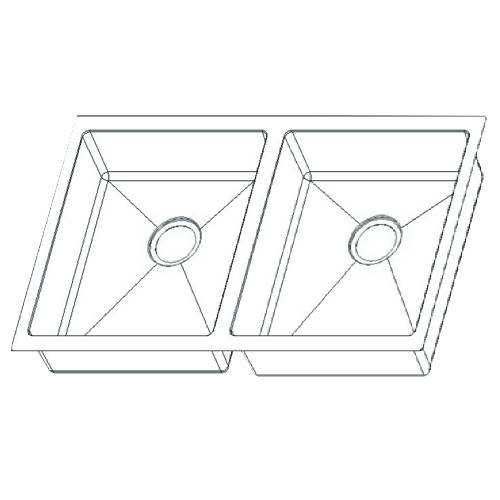 Wells Sinkware 18 Gauge ADA Handcrafted Undermount Double Bowl Stainless Steel Kitchen Sink Package SSU3018-45-1