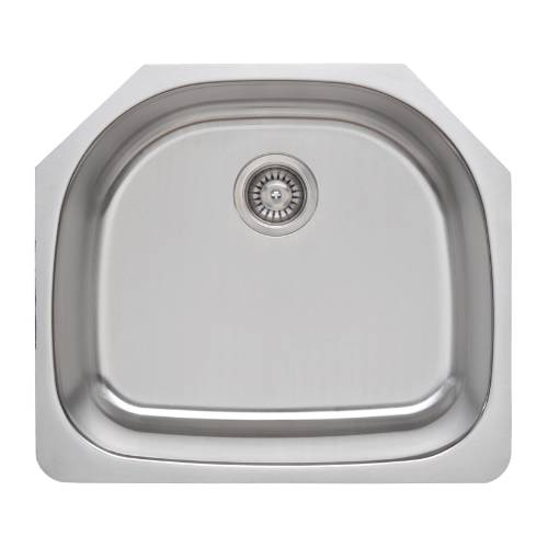 Wells Sinkware 18 Gauge D-shape Single Bowl Undermount Stainless Steel Kitchen Sink CMU2421-9D CMU2421-9D