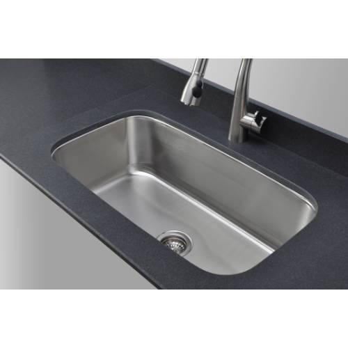 Wells Sinkware 18 Gauge Single Bowl Undermount Stainless Steel Kitchen Sink CMU3118-10