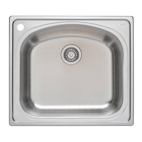 Wells Sinkware 18 Gauge Single Bowl Topmount Stainless Steel Kitchen Sink CHT2522-10L