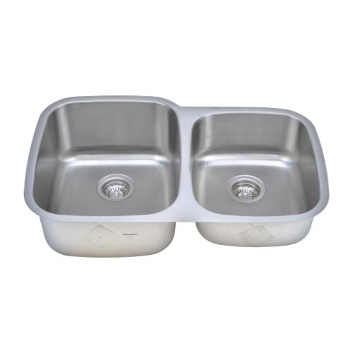 Wells Sinkware 16 Gauge 60/40 Double Bowl Undermount Stainless Steel Kitchen Sink CMU3221-97-16