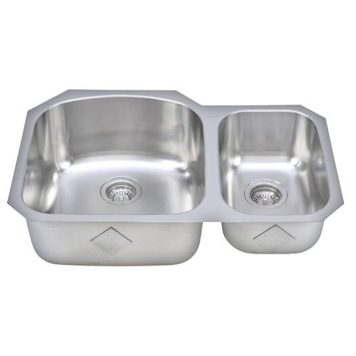 Wells Sinkware 17 Gauge Deck/ 18 Gauge Double Bowl Undermount Stainless Steel Kitchen Sink CHU3221-97