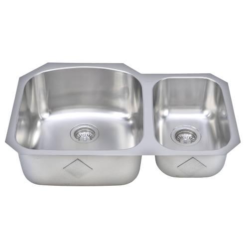 Wells Sinkware 17 Gauge Deck/ 18 Gauge Double Bowl Undermount Stainless Steel Kitchen Sink CHU3221-97