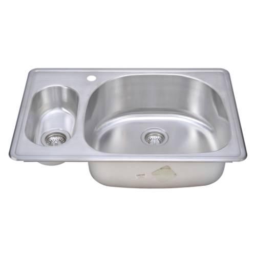 Wells Sinkware 18 Gauge 20/80 Double Bowl Topmount Stainless Steel Kitchen Sink CMT3322-59D