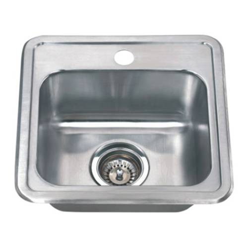 Wells Sinkware 18 Gauge Single Bowl Topmount Stainless Steel Kitchen Sink CMT1515-6