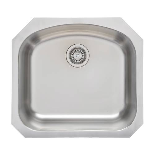 Wells Sinkware 17 Gauge Deck/ 18 Gauge Single Bowl Undermount Stainless Steel Kitchen Sink CHU2421-10
