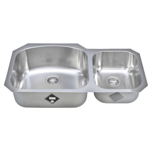 Wells Sinkware 17 Gauge Deck/ 18 Gauge Double Bowl Undermount Stainless Steel Kitchen Sink CHU3721-97