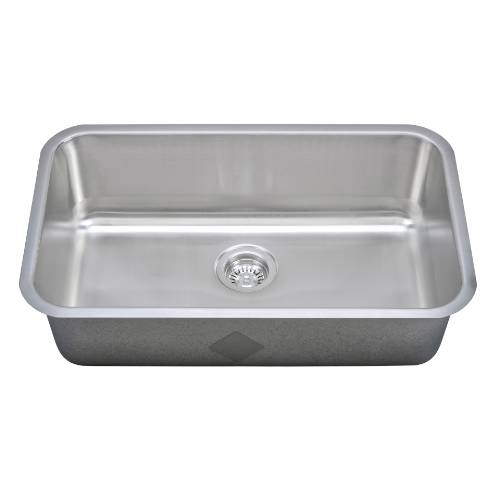 Wells Sinkware 18 Gauge Single Bowl Undermount Stainless Steel Kitchen Sink Package CMU3018-9-1