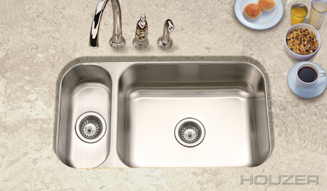Houzer Elite Undermount 80/20 Double Bowl EHD-3118-20