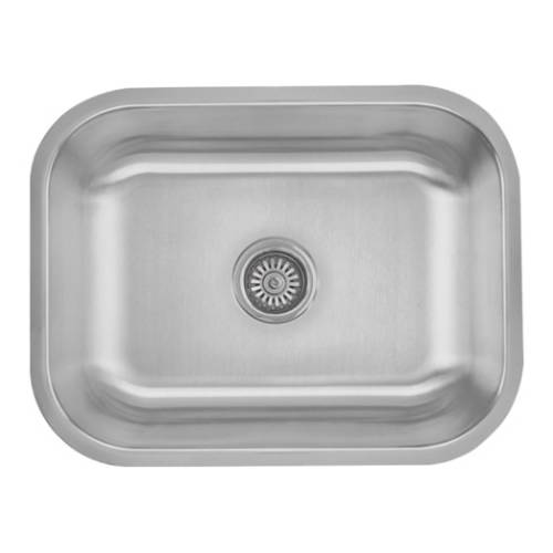 Wells Sinkware 16 Gauge Single Bowl Undermount Stainless Steel Kitchen Sink Package CMU2318-9-16-1