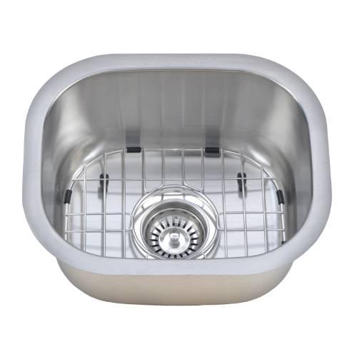 Wells Sinkware 18 Gauge Single Bowl Undermount Stainless Steel Bar Sink Package CMU1513-7-1