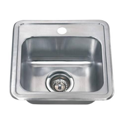 Wells Sinkware 18 Gauge Single Bowl Topmount Stainless Steel Kitchen Sink Package CMT1515-6-1