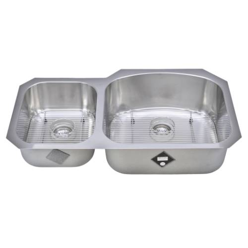 Wells Sinkware 17 Gauge Deck/ 18 Gauge Double Bowl Undermount Stainless Steel Kitchen Sink Package CHU3721-79-1