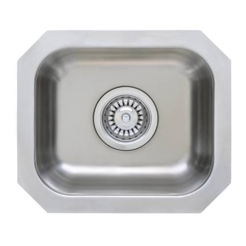 Wells Sinkware 18 Gauge Single Undermount Bowl Stainless Steel Kitchen Sink GLU1412-7-1