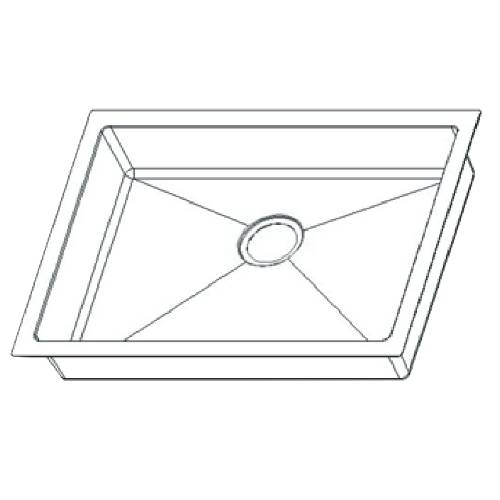 Wells Sinkware 18 Gauge ADA Handcrafted Undermount Single Bowl Stainless Steel Kitchen Sink SSU2318-45