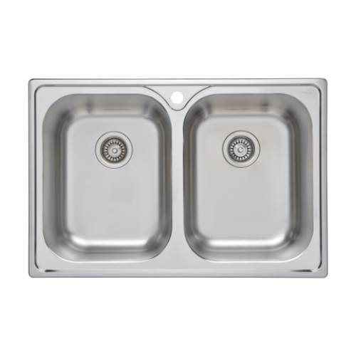 Wells Sinkware 18 Gauge Double Bowl Topmount Stainless Steel Kitchen Sink Package GLT3322-99LG-1