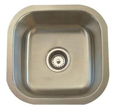 Alpha International U-102 Undermount Single Bowl Stainless Steel Sink