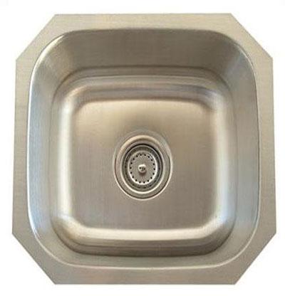 Alpha International U-109 Undermount Single Bowl Stainless Steel Sink