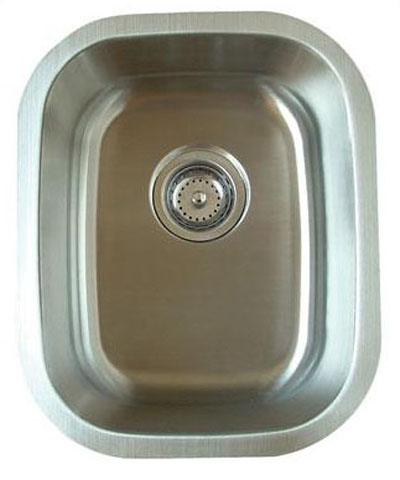 Alpha International U-181 Undermount Single Bowl Stainless Steel Sink